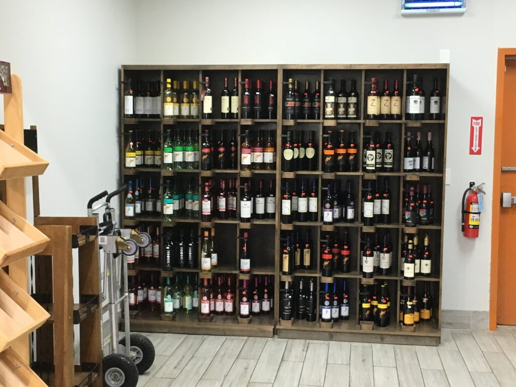 Millwork - Custom Wine Shelving - Arlington Trading Post